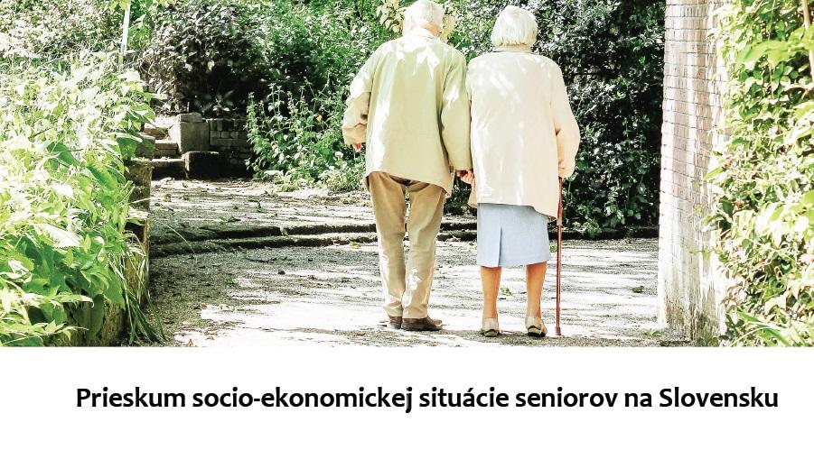 Titulná strana: Prieskum socio-ekonomickej situácie seniorov na Slovensku, R. Bednárik, IVPR, 2019