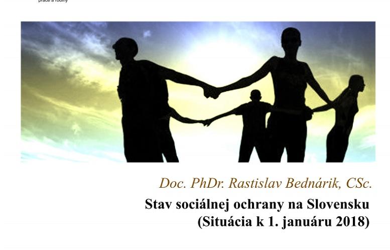 Titulná strana Stav sociálnej ochrany na Slovensku. Situácia k 1. januáru 2018 (Rastislav Bednárik, 2018)