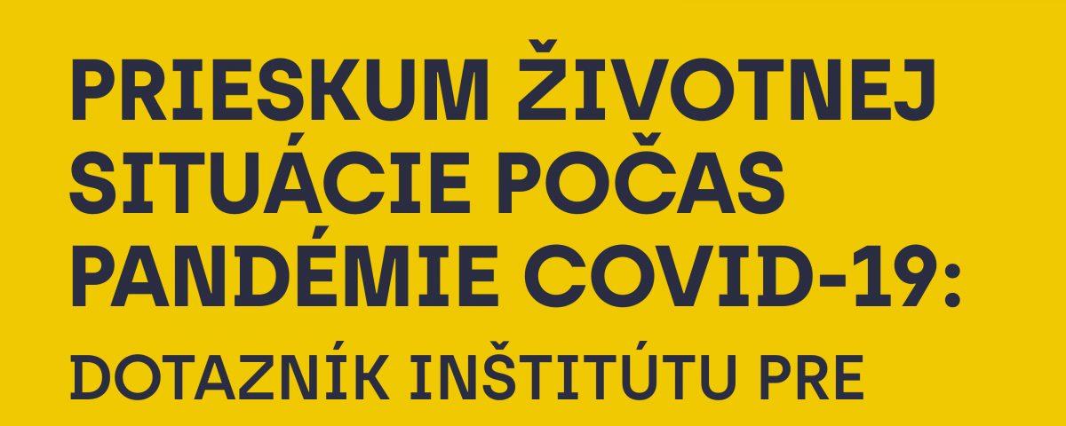Banner na tému Dotazník/prieskum životnej situácie počas pandémie COVID-19
