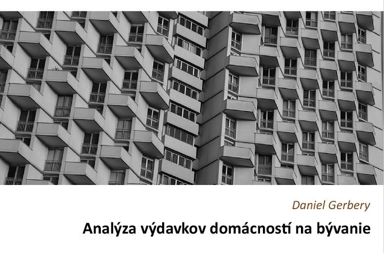 Titulná strana štúdie Analýza výdavkov domácností na bývanie (D. Gerbery, IVPR, 2019)
