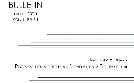 Titulná strana Bulletinu IVPR 1/2020