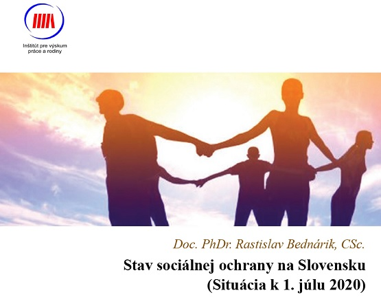 Titulná strana publikácie Stav sociálnej ochrany na Slovensku - situácia k 1. júlu 2020 (R. Bednárik, IVPR)