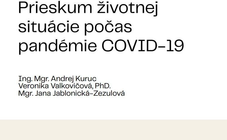 Titulná strana publikácie Prieskum životnej situácie počas pandémie COVID-19