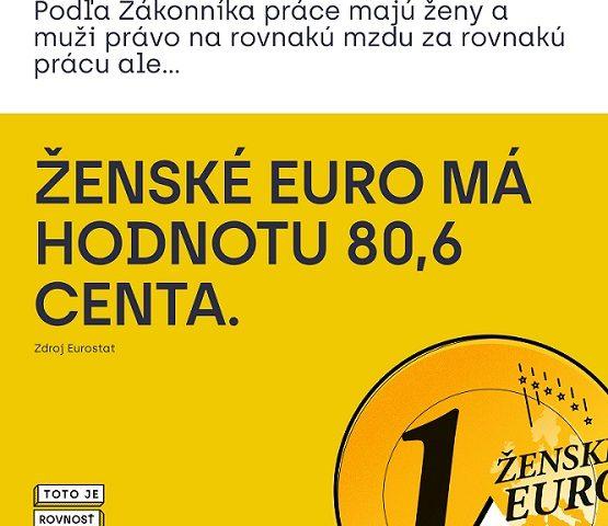 Ženské euro má hodnotu 80,6 centa (Zdroj: Eurostat)