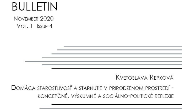 Titulná strana Bulletinu IVPR 4/2020