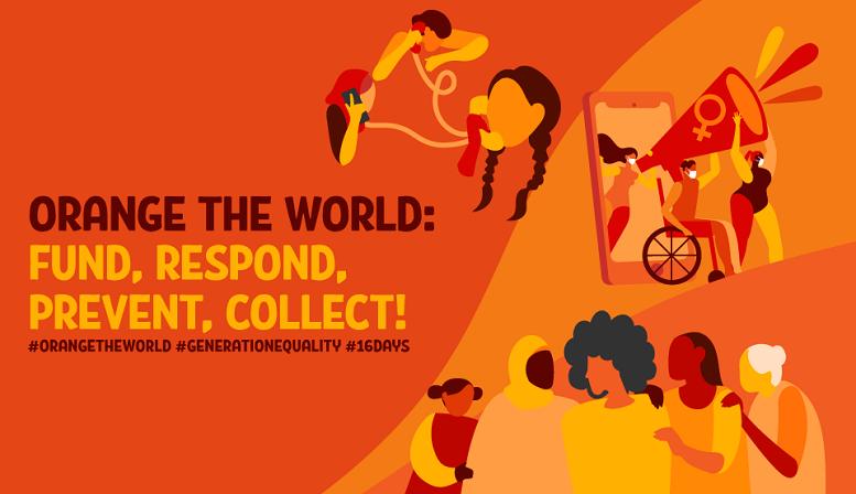 Upútavka ku kampani Orange the World - grafika, ilustrácia