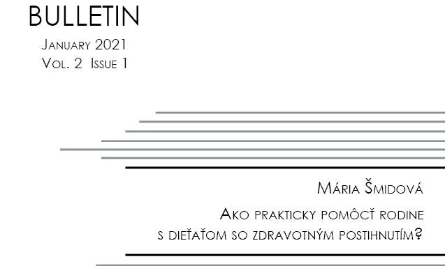 Titulná strana Bulletinu IVPR 1/2021