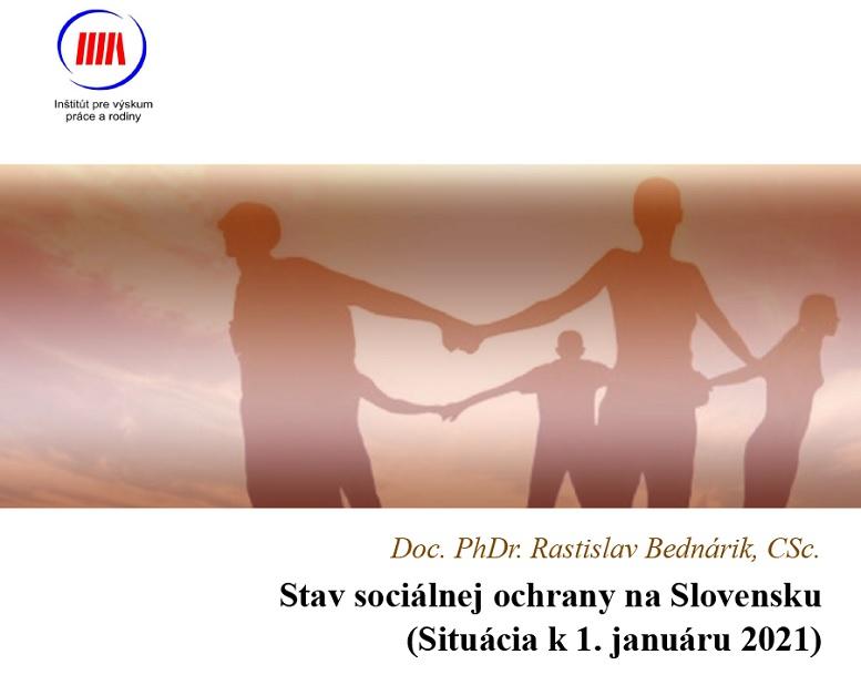 Titulná strana publikácie Stav sociálnej ochrany na Slovensku (Situácia k 1. januáru 2021)