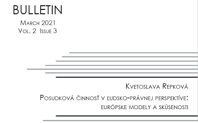 Titulna strana Bulletinu IVPR 2/2021