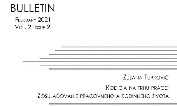 Titulná strana Bulletinu IVPR 2/2021