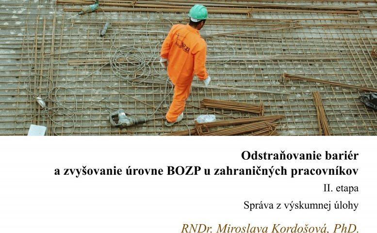 Titulna strana studie Odstranovanie barier... II. etapa