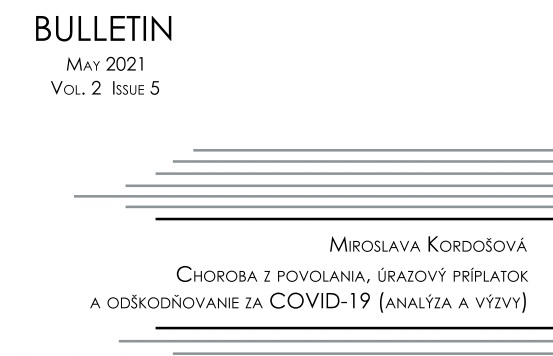 Titulná strana Bulletinu IVPR 5/2021