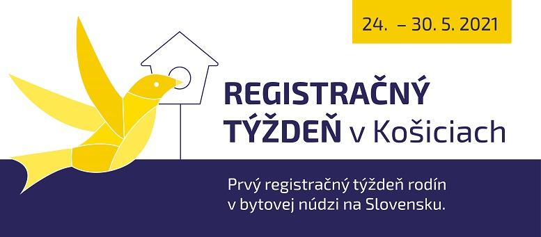 Upútavka na Prvý registračný týždeň rodín v bytovej núdzi v Košiciach (Nadácia DEDO)