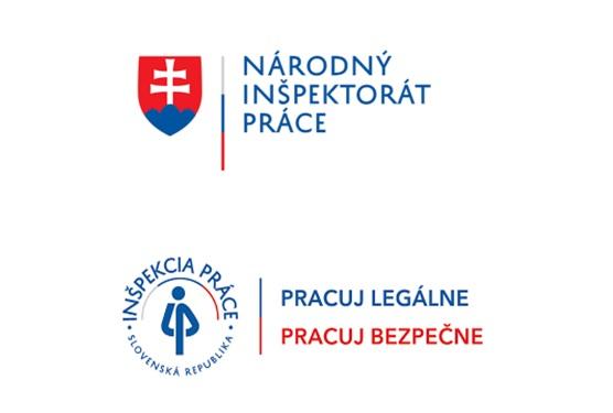 logo Národného inšpektorátu práce a Inšpekcie práce - Pracuj legálne, pracuj bezpečne