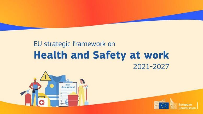 Ilustrovaný banner - upútavka na EU Strategic framework on Health and Safety at work 2021-2027