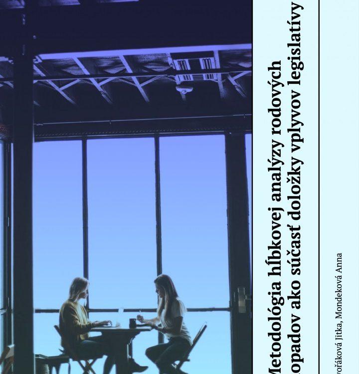 Titulná strana publikácie IVPR Metodológia hĺbkovej analýzy rodových dopadov...