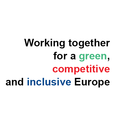 Working together for a grenn, competitive and inclusive Europe - slogan Norway Grants
