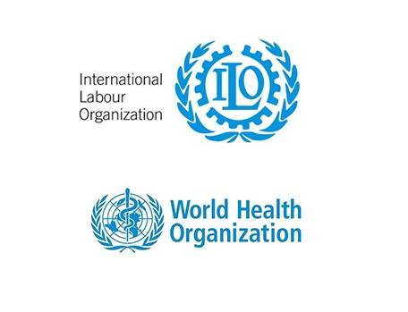 Logo ILO a WHO