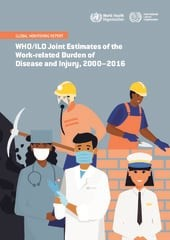 Titulná strana správy WHO/ILO joint estimates of the work-related burden of disease and injury, 2000-2016: global monitoring report