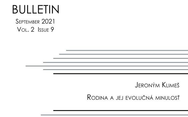 Titulná strana Bulletinu IVPR 9/2021